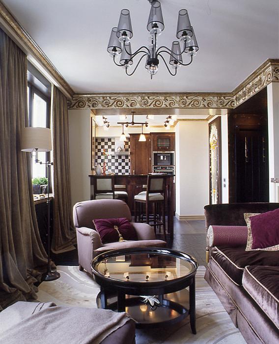 Квартира. гостиная из проекта , фото №27224