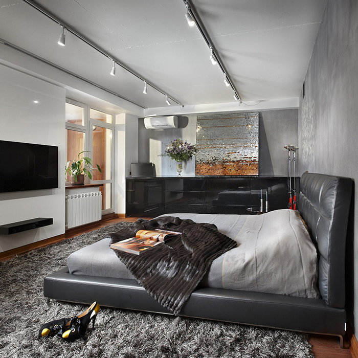 Квартира. спальня из проекта , фото №27925
