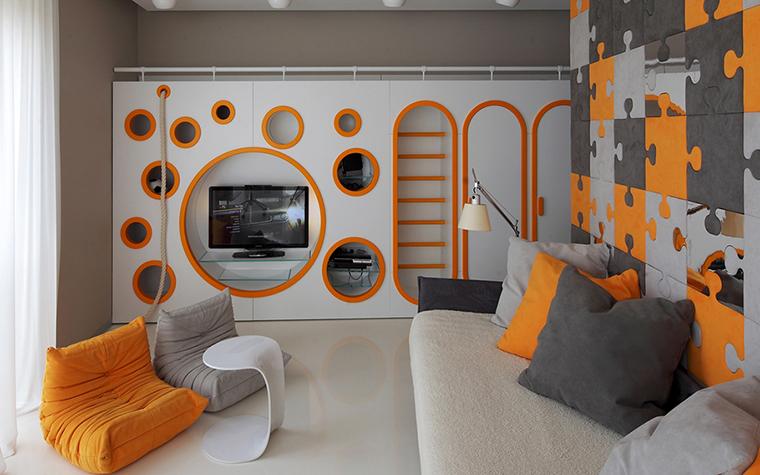 13 оранжевых детских комнат