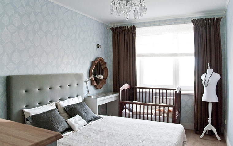 Квартира. спальня из проекта , фото №28469