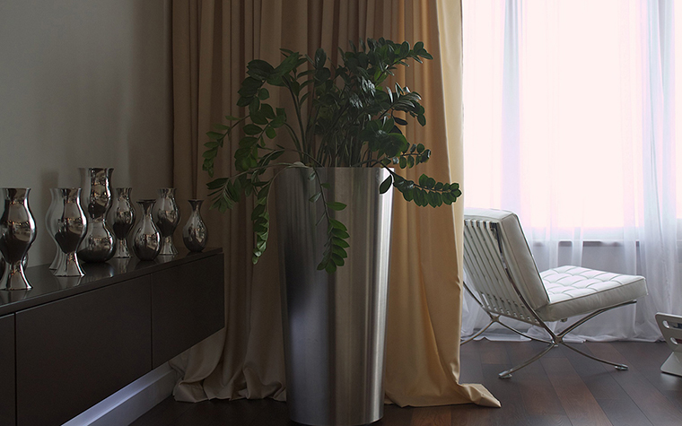 Цветы в интерьере гостиной