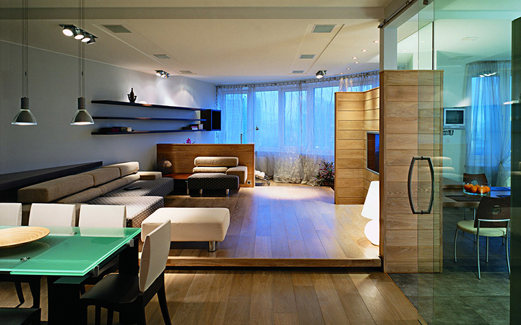 Фото № 29621 гостиная  Квартира