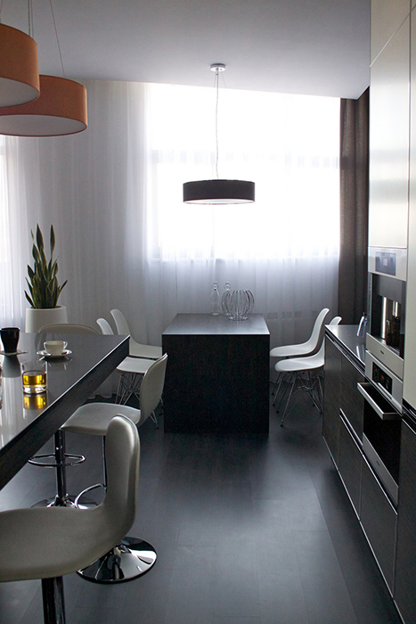 Дизайн освещения  кухни
