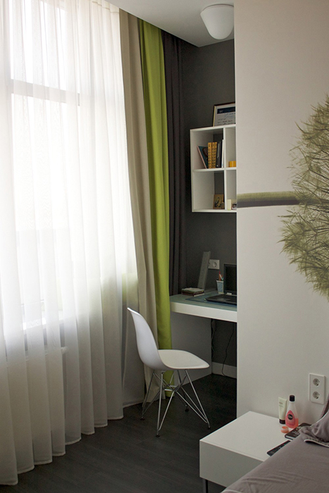 Квартира. спальня из проекта , фото №29661