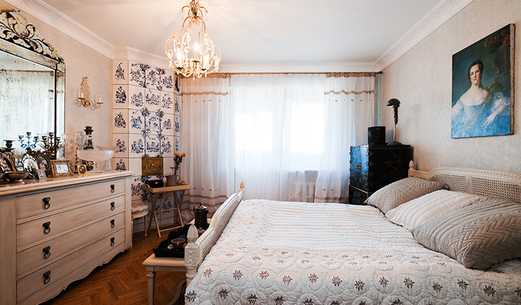 Квартира. спальня из проекта , фото №29693