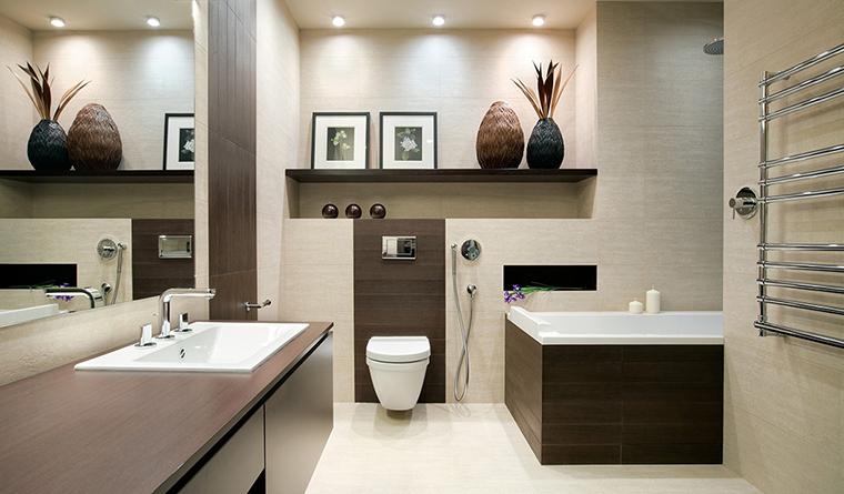 <p>Автор проекта: Domestic Studio. Фотограф: Сергей Ананьев.&nbsp;</p> <p>Глубокие ниши в интерьере ванной комнаты не только функциональны, но и эстетчны.&nbsp; Они дают дополнительный объем, что всегда хорошо.</p>