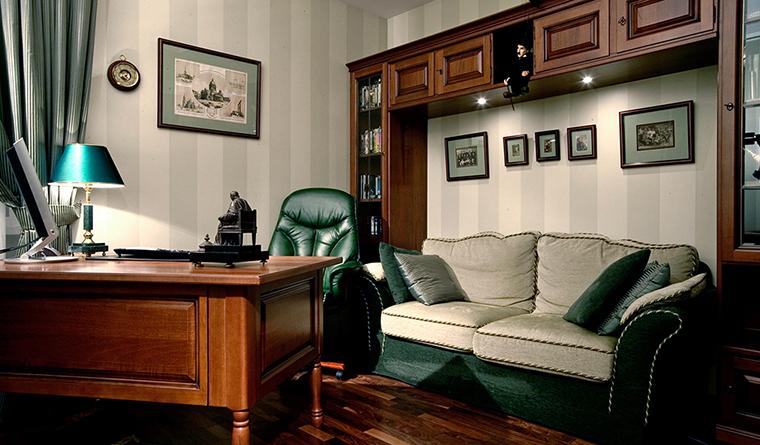 Квартира. кабинет из проекта , фото №30338