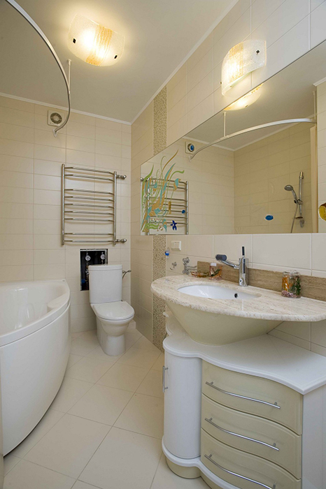 Квартира. ванная из проекта , фото №30524