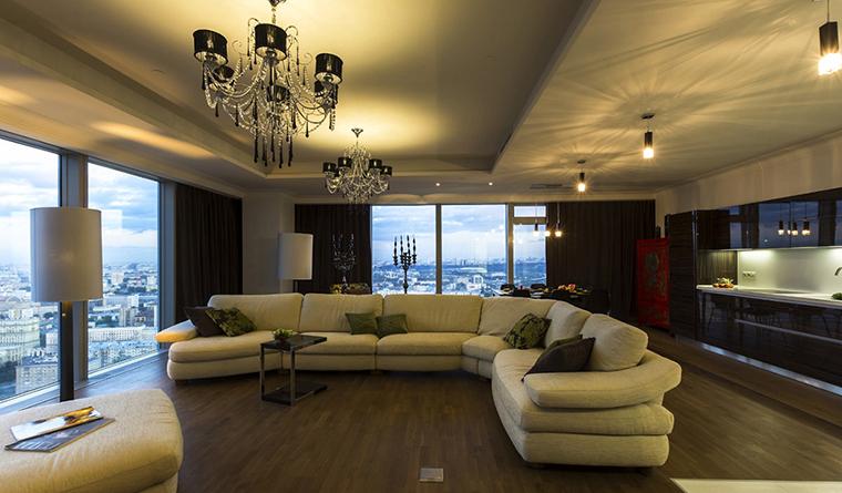 Квартира. гостиная из проекта , фото №30538