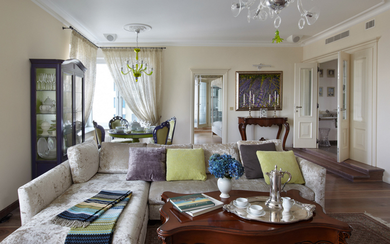 Фото № 24652 гостиная  Квартира