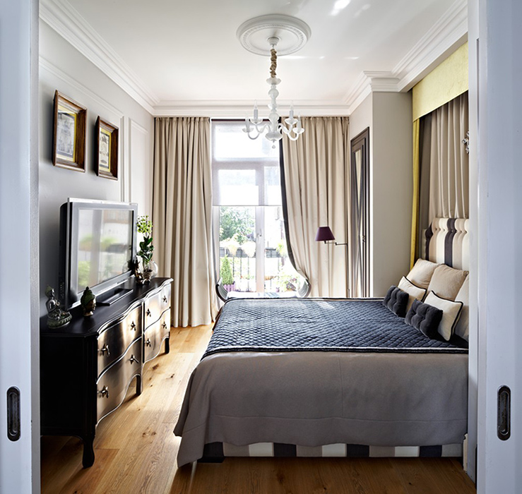 Квартира. спальня из проекта , фото №37556