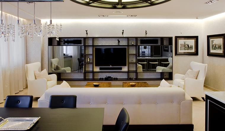 Квартира. гостиная из проекта , фото №31130