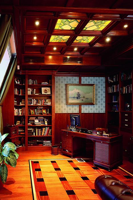 Фото № 31523 кабинет библиотека  Квартира