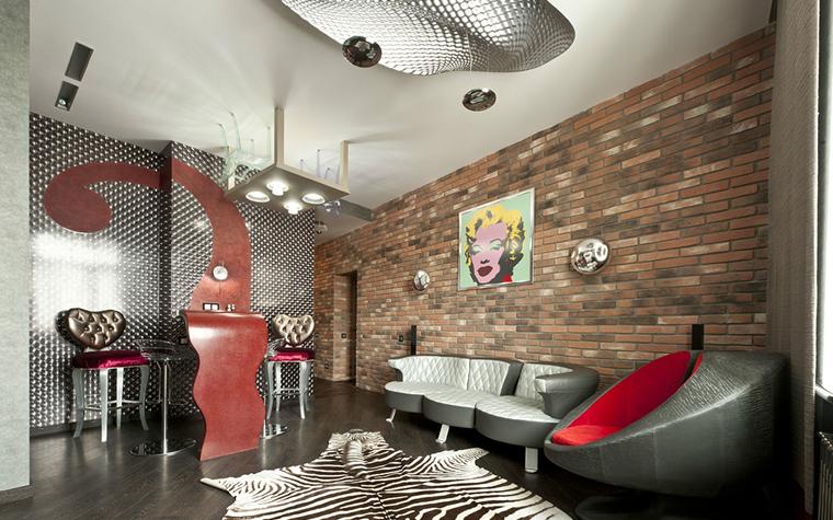 Квартира. гостиная из проекта , фото №33098