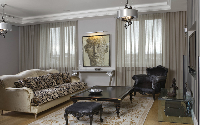 Фото № 33464 гостиная  Квартира