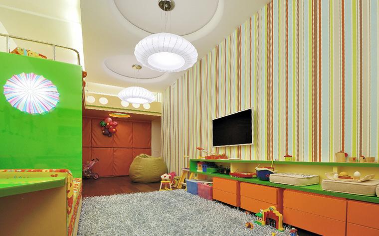 Фото детской комнаты в зелёном цвете