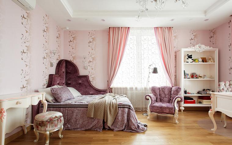 <p>Автор проекта: Мастерская Воронцовых</p> <p>Главным интерьерным персонажем детской комнаты выступает угловая кровать и высокой &quot;двустворчатой&quot; спинкой. Такое ноу-хау позволяет удобно размещаться на такой кровати вдоль и поперек.&nbsp;</p>