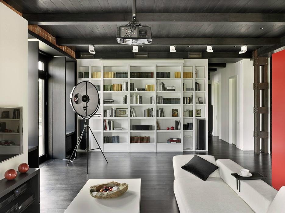 <p>Авторы проекта:&nbsp; архитектурная студия Studio Plan.</p> <p>Оптимальный вариант меблировки&nbsp; студийного пространства &ndash; использование многофункциональных элементов &ndash; диванов-трансформеров, двусторонней корпусной мебели.</p>