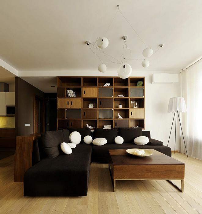 Квартира. гостиная из проекта , фото №35841