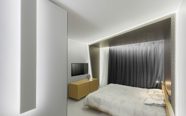 Квартира. спальня из проекта , фото №36032