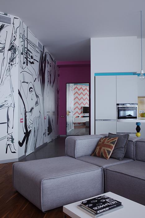 интерьер гостиной - фото № 36533