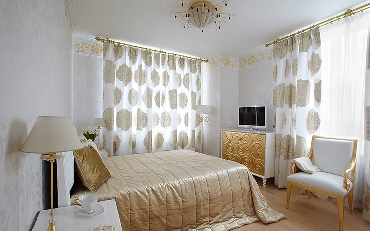 Квартира. спальня из проекта , фото №37019