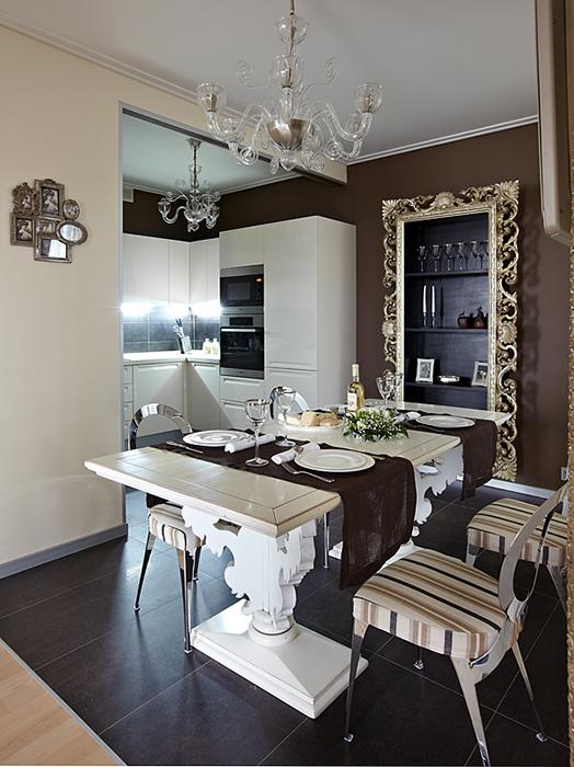 Квартира. столовая из проекта , фото №37018