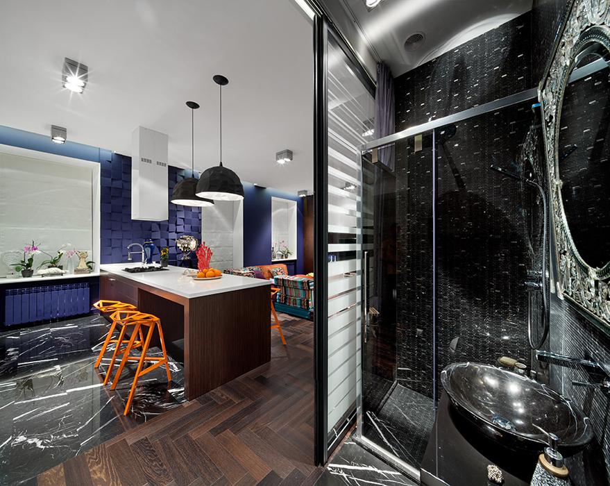 Квартира. ванная из проекта , фото №38077