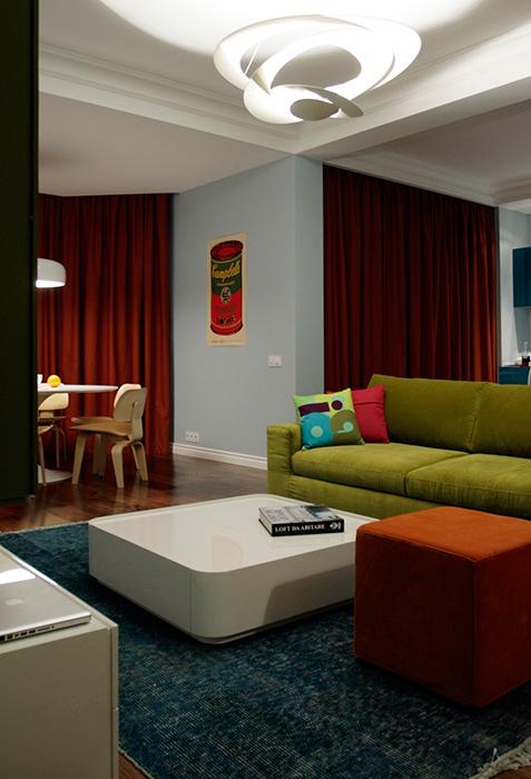 Квартира. гостиная из проекта , фото №38627