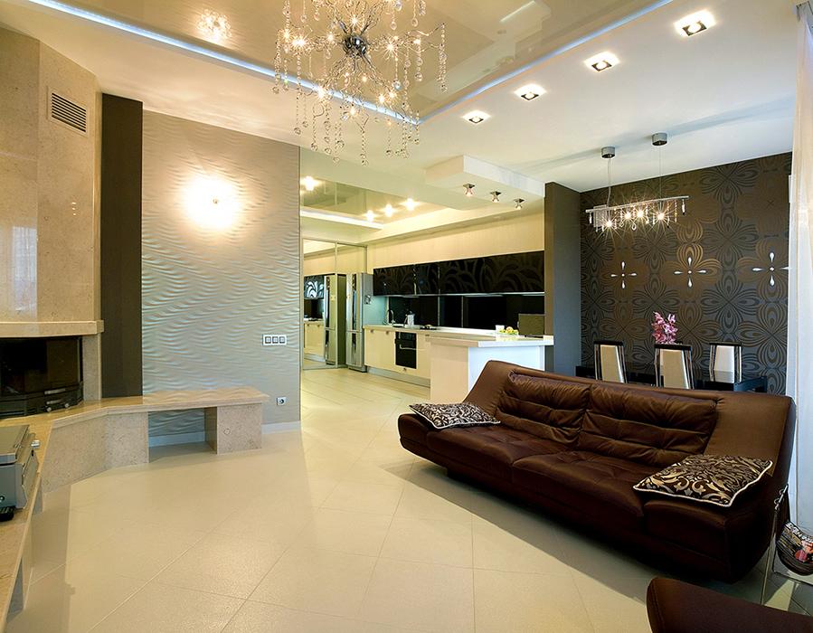 Квартира. гостиная из проекта , фото №38792