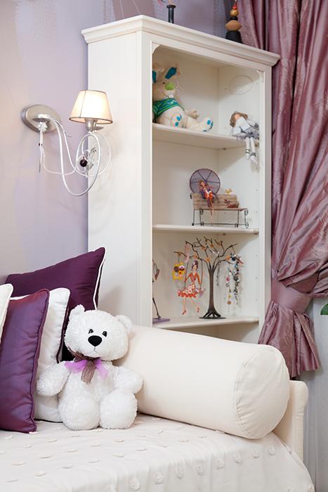 17 сиреневых детских комнат