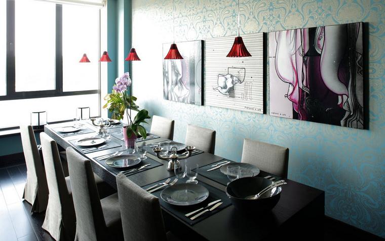 Квартира. столовая из проекта , фото №40142