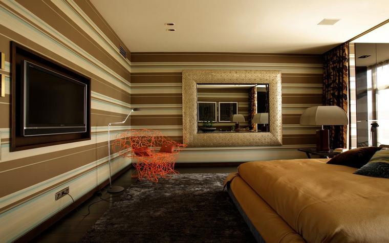Квартира. спальня из проекта , фото №40148
