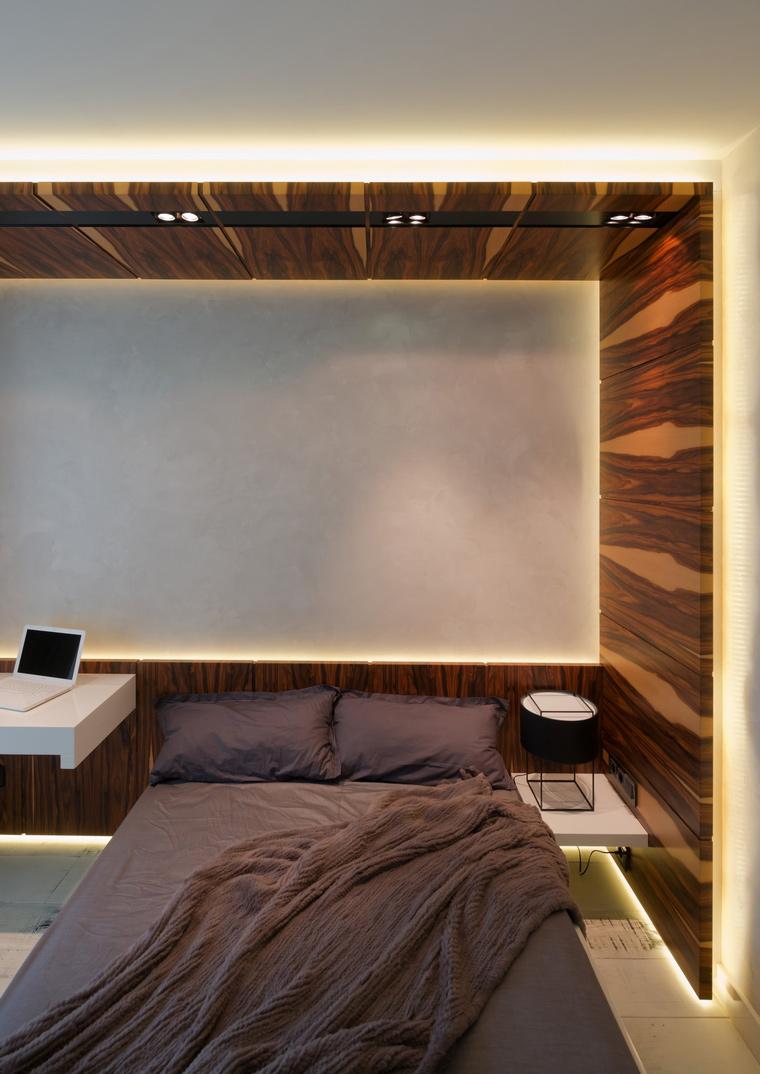 Квартира. спальня из проекта , фото №41621