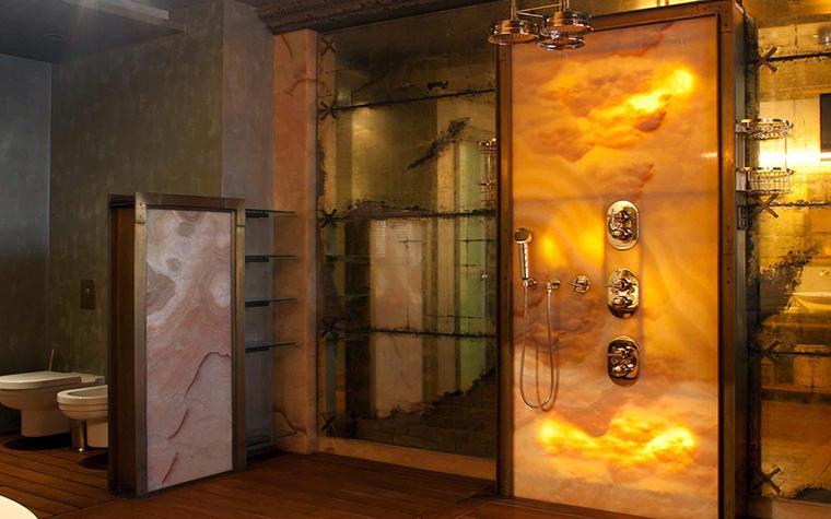 <p>Автор проекта: Архитектурное бюро ДИА (МАО)</p> <p>Камень можно подсветить, особенно оникс.</p>