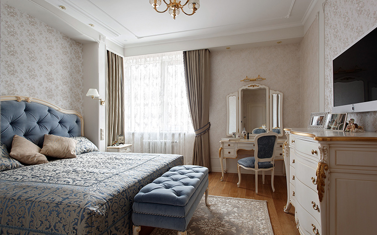 Квартира. спальня из проекта , фото №42512