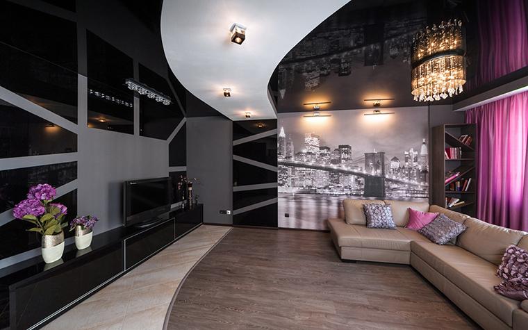 Квартира. гостиная из проекта Чёрное озеро, фото №42555