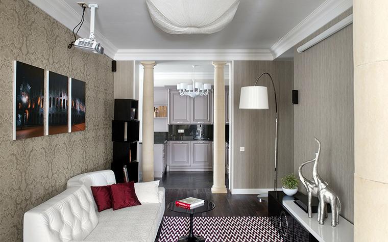 Фото № 42695 гостиная  Квартира