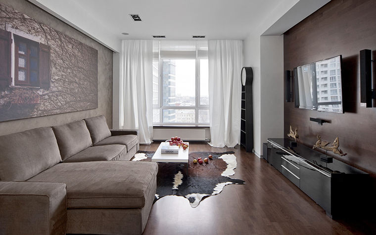 Квартира. гостиная из проекта , фото №42998