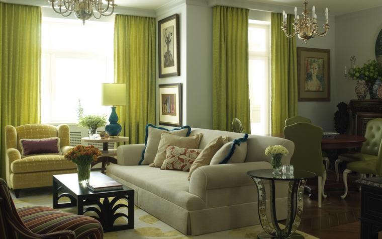 интерьер гостиной - фото № 43656