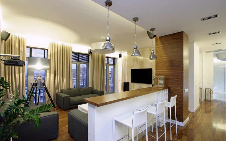 Квартира. гостиная из проекта , фото №43714