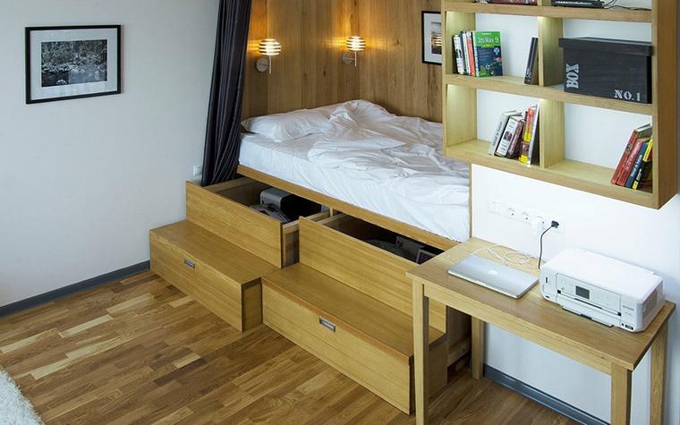 Квартира. спальня из проекта , фото №43928