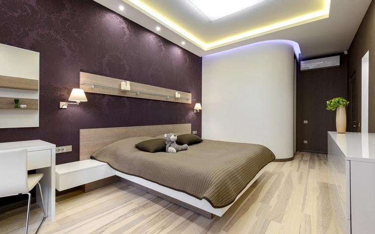 Квартира. спальня из проекта , фото №44045