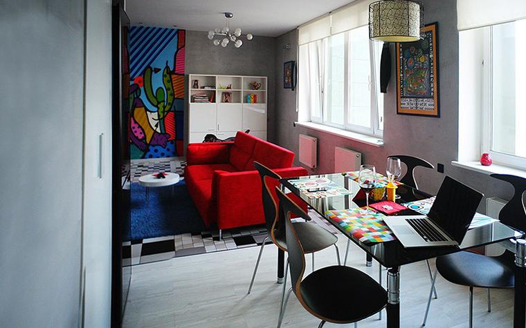 Квартира. столовая из проекта Квартира на Молодогвардейской, Москва, фото №44501