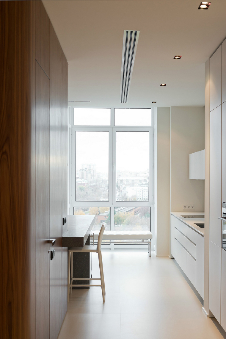 Интерьер кухни-гостиной в стиле лофт