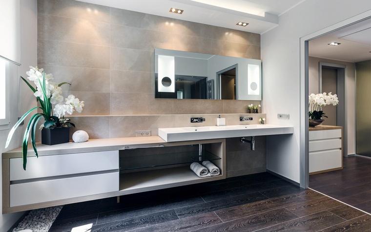 Фото отделки ванной комнаты деревом