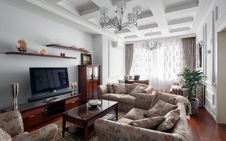 Квартира. гостиная из проекта , фото №44822