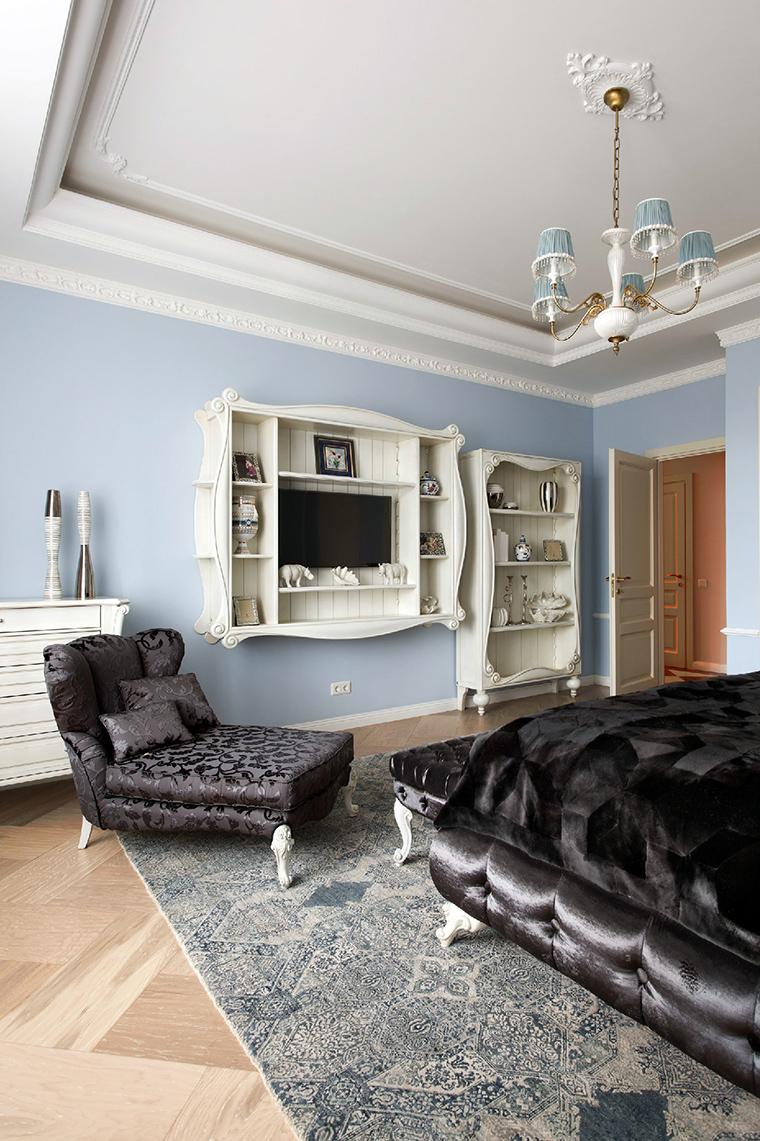 Квартира. спальня из проекта , фото №44824