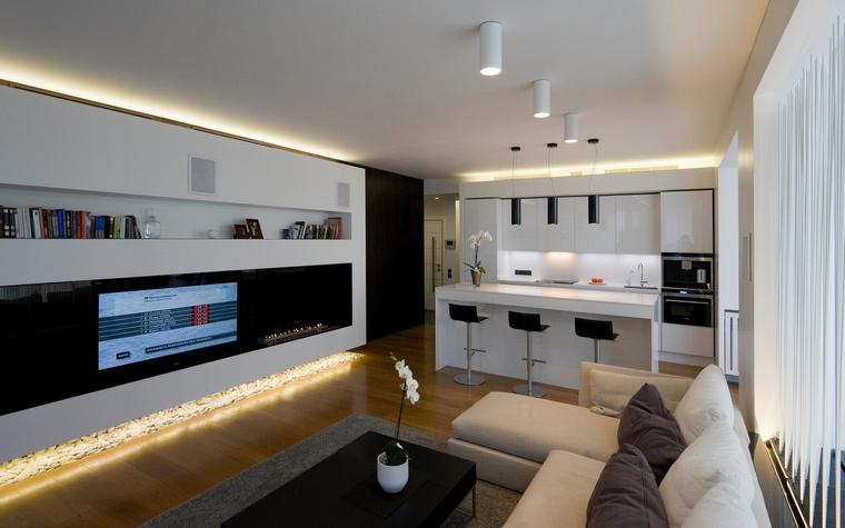 Квартира. гостиная из проекта , фото №45319