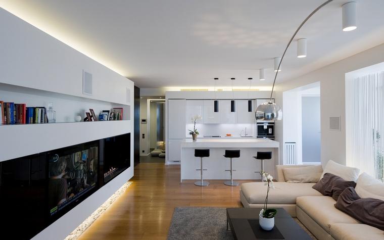 Квартира. гостиная из проекта , фото №45311